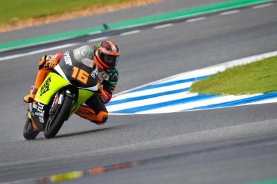 Migno remains ahead, Ogura tops wet FP3