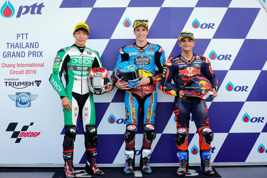 Alex Marquez, Tetsuta Nagashima, Jorge Martin, PTT Thailand Grand Prix