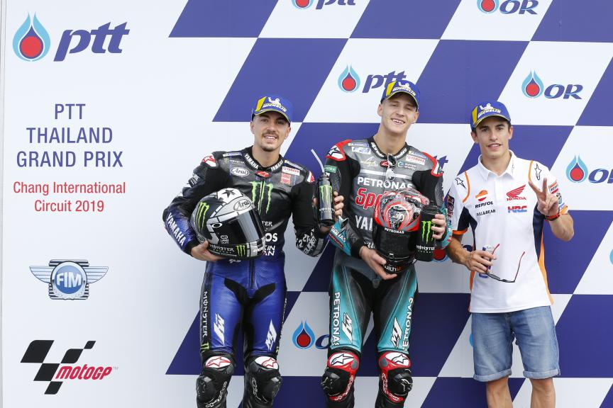Fabio Quartararo, Marc Marquez, Maverick Viñales, PTT Thailand Grand Prix