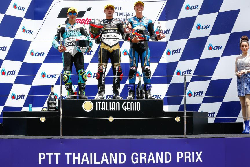 Albert Arenas, Lorenzo Dalla Porta, Alonso Lopez, PTT Thailand Grand Prix