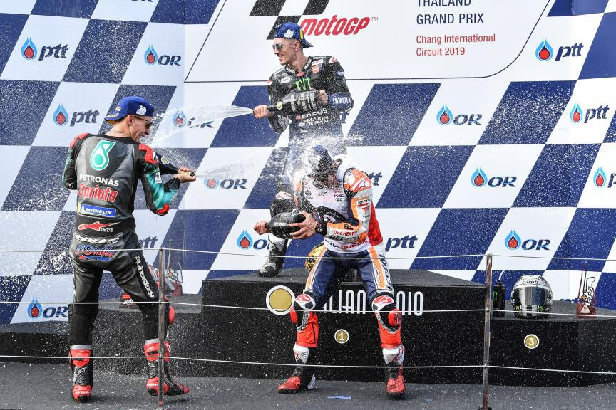 Marc Marquez, Fabio Quartararo, Maverick Viñales, PTT Thailand Grand Prix