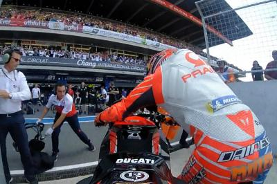 What happened to Jack Miller on the start line in Thailand?
