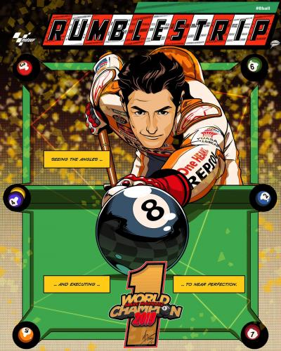 #8ball Mission accomplished #RumbleStrip #MotoGP World Champion Special Edition