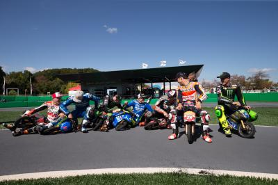 Mini-bikes, MEGA action!!! Ahead of their 2015 visit to Motegi,