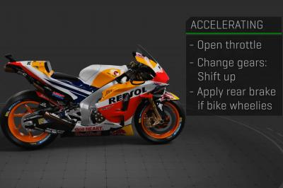 Wie steuert ein MotoGP™ -Fahrer sein Motorrad?