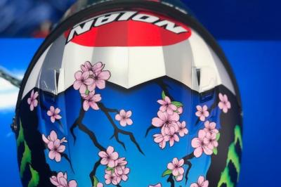 Did you spot @Rins42's special SAKURA helmet design for the