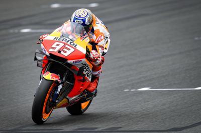 Marquez schnellster im FP4 bei abtrocknender Strecke