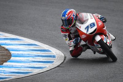 Ogura on top in wet Moto3™ FP3