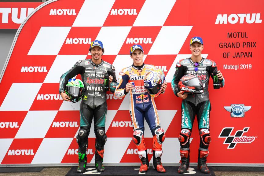 Marc Marquez, Franco Morbidelli, Fabio Quartararo, Motul Grand Prix of Japan