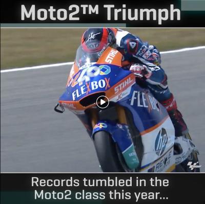 Stats of the #Moto2 Triumph era! They say records are