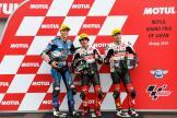 Niccolo Antonelli, Alonso Lopez, Tatsuki Suzuki, Motul Grand Prix of Japan