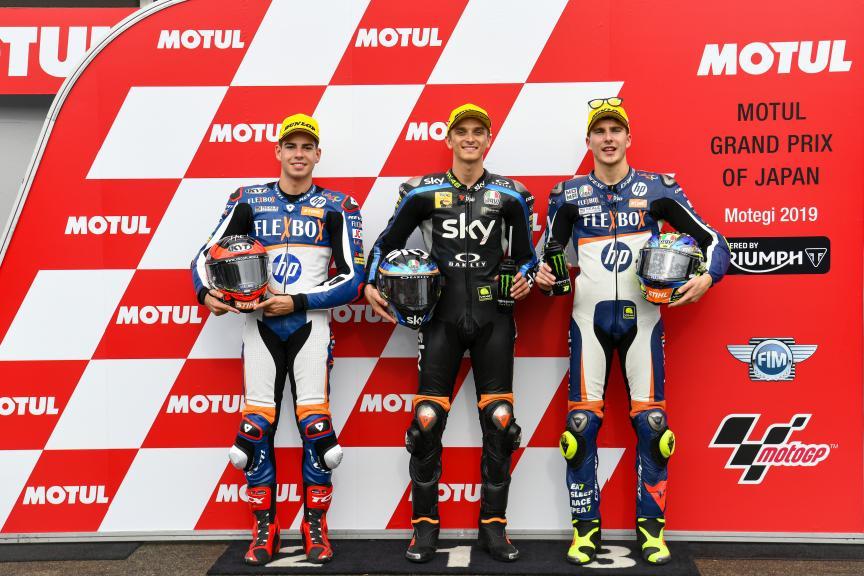 Luca Marini, Augusto Fernandez, Lorenzo Baldassarri,Motul Grand Prix of Japan
