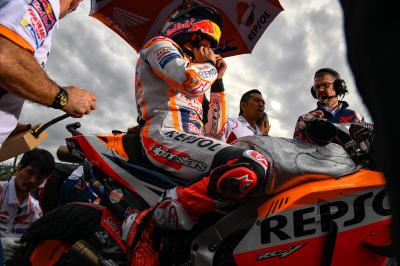 Marquez on wet tyres - a smart plan or a sneaky trick?