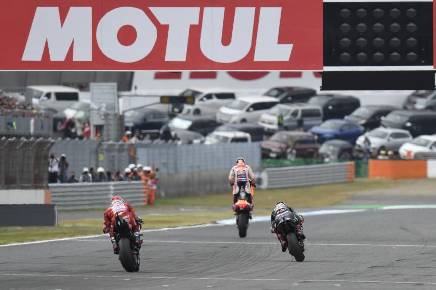 Marc Marquez, Fabio Quartararo, Andrea Dovizioso, Motul Grand Prix of Japan