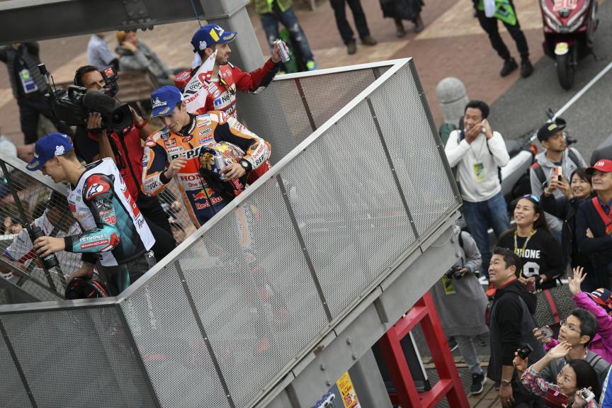 Marc Marquez, Fabio Quartararo, Andrea Dovizioso, Motul Grand Prix of Japan