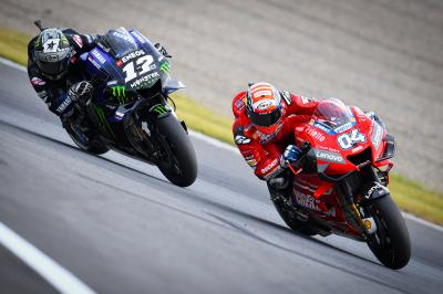 Dovizioso analyses his podium fight with Viñales