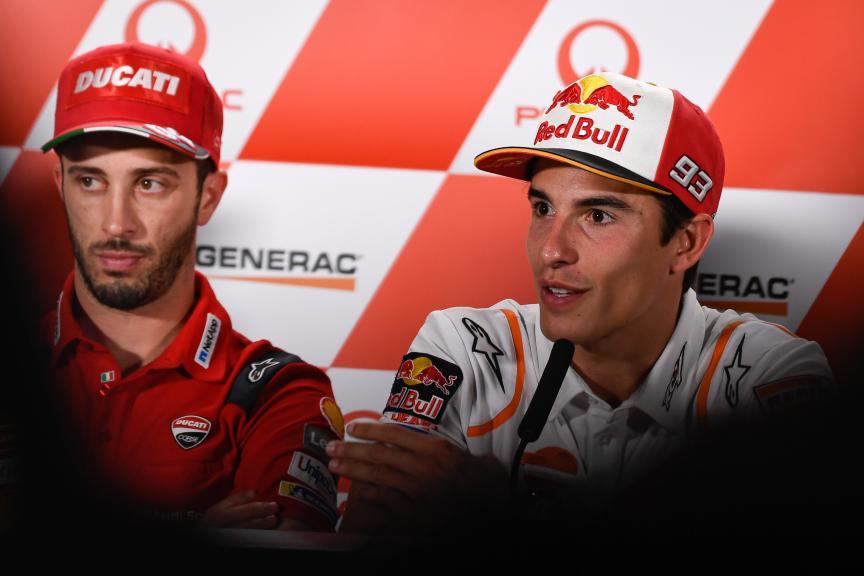 Andrea Dovizioso, Marc Marquez, Pramac Generac Australian Motorcycle Grand Prix