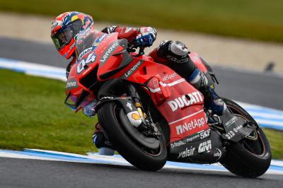 "Dovizioso ""really happy"" to be second fastest"