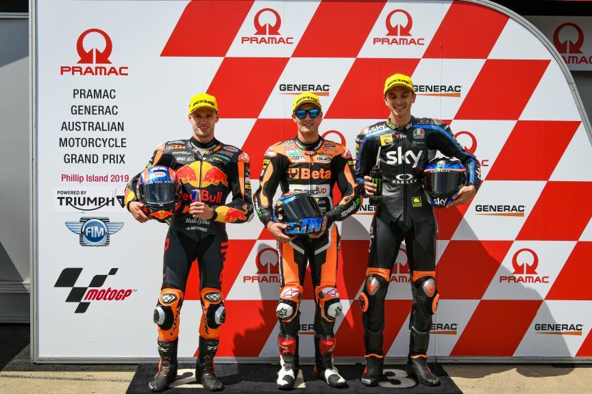 Jorge Navarro, Brad Binder, Luca Marini, Pramac Generac Australian Motorcycle Grand Prix