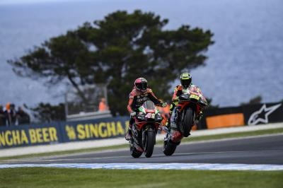 A new best result for Aprilia after their Motegi disaster