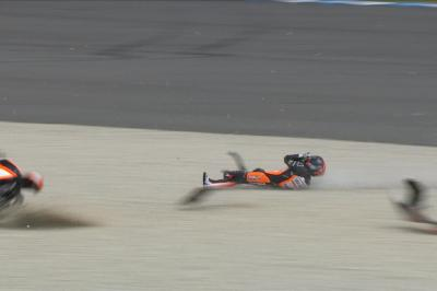 FREE: watch the Moto3™ Championship-defining crash