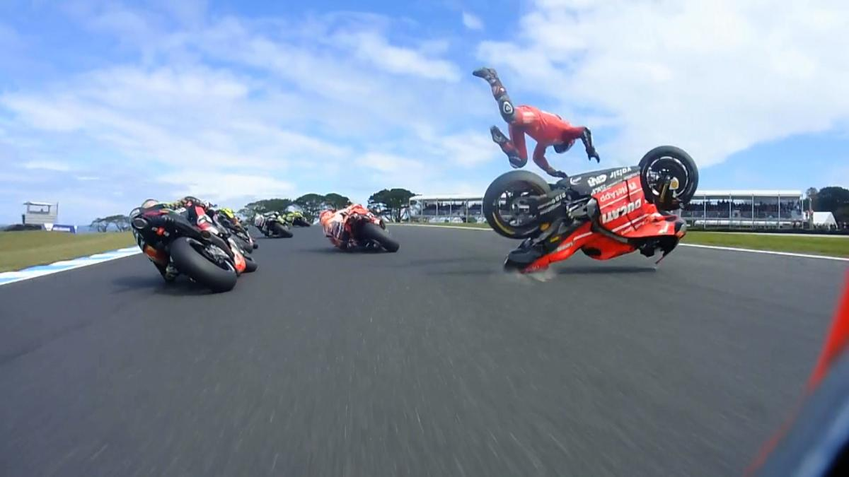 Image result for first lap crash motogp australian grand prix 2019