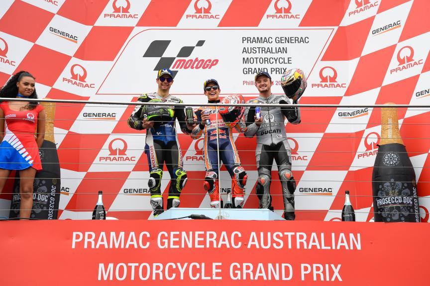 Marc Marquez, Cal Crutchlow, Jack Miller, Pramac Generac Australian Motorcycle Grand Prix