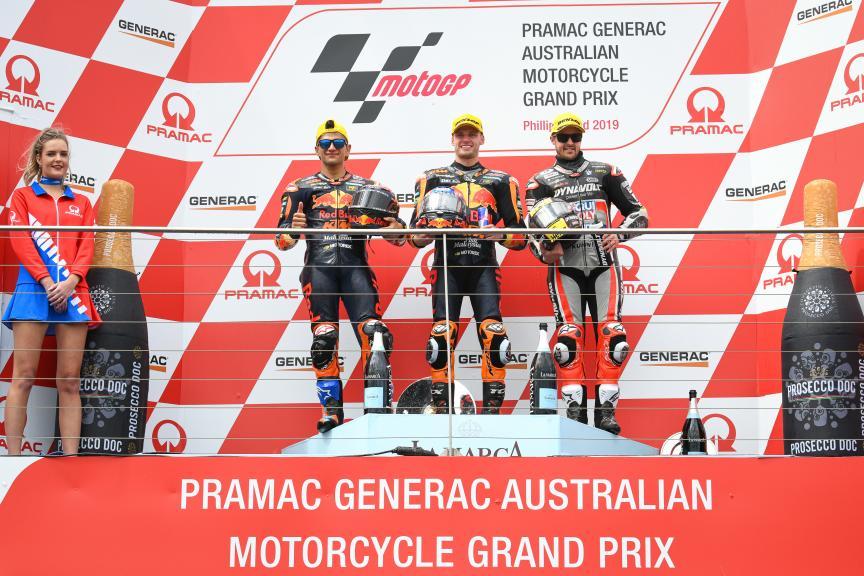 Brad Binder, Jorge Martin, Tom Luthi, Pramac Generac Australian Motorcycle Grand Prix