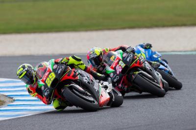 Aprilia gana confianza con su mejor botín en MotoGP™