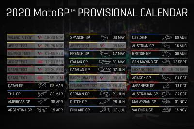 Calendrier Moto Gp 2020.Motogp2020 Provisional 2020 Calendar Released Motogp
