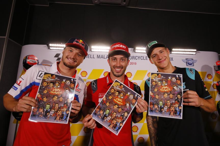 Jack Miller, Andrea Dovizioso, Fabio Quartararo, Shell Malaysia Motorcycle Grand Prix