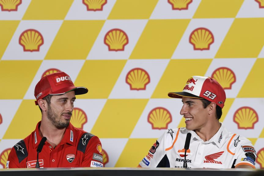 Andrea Dovizioso, Marc Marquez, Shell Malaysia Motorcycle Grand Prix