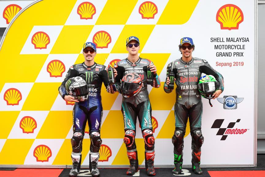 Fabio Quartararo, Maverick Viñales, Franco Morbidelli, Shell Malaysia Motorcycle Grand Prix