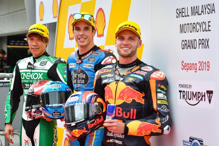 Alex Marquez, Tetsuta Nagashima, Brad Binder, Shell Malaysia Motorcycle Grand Prix