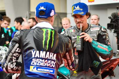 Yamaha dominate Sepang front row