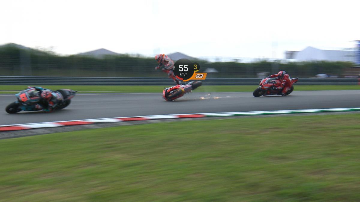 Marquez' huge Q2 crash with telemetry