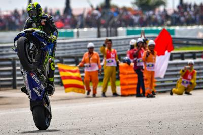 "Rossi ""happy to be strong"" at ""hardest race of the season"""