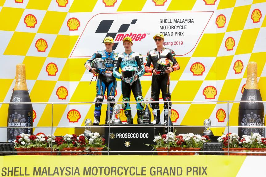 Lorenzo Dalla Porta, Sergio Garcia, Jaume Masia, Shell Malaysia Motorcycle Grand Prix