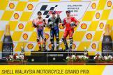 Maverick Viñales, Marc Marquez, Andrea Dovizioso, Shell Malaysia Motorcycle Grand Prix