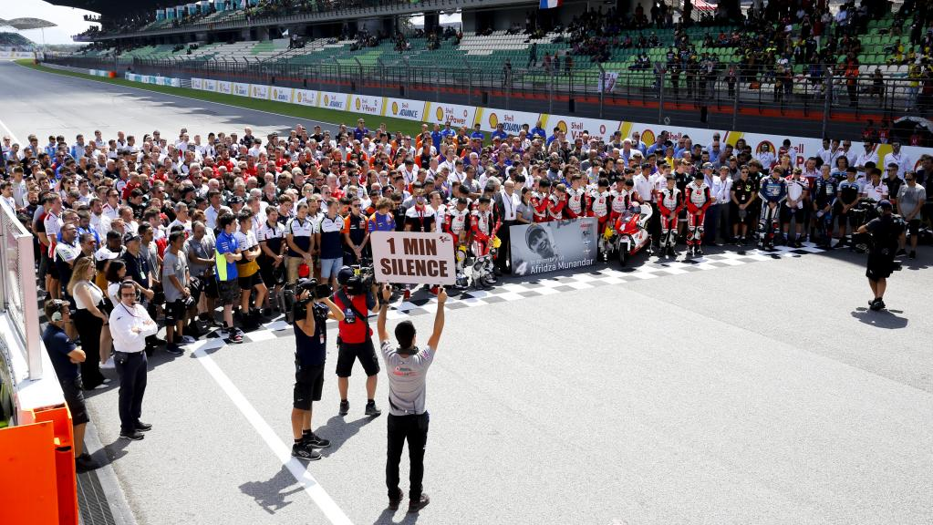 Minute of silence Afridza Munandar, Shell Malaysia Motorcycle Grand Prix