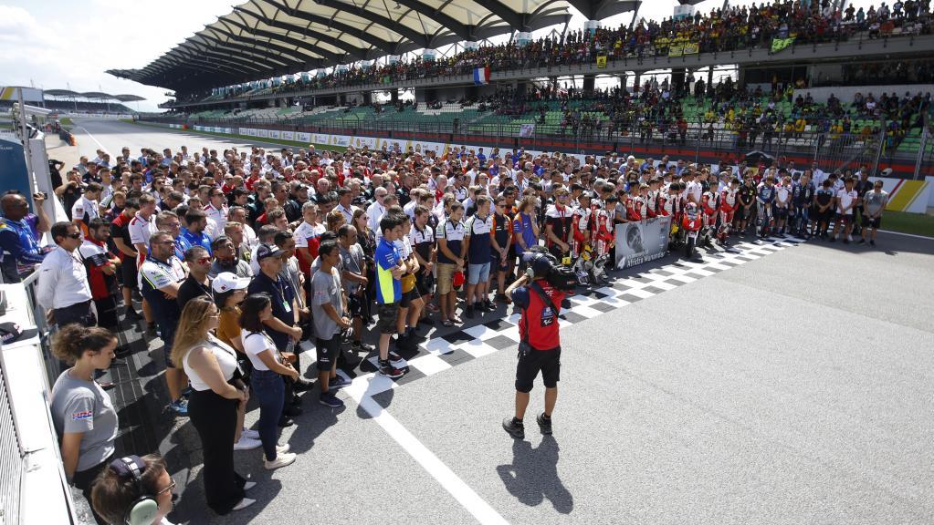 Minute of silence Afridza Munandar, Shell Malaysia Motorcycle Grand Prix