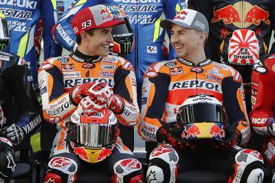 Márquez y Lorenzo, aliados a la caza de la Triple Corona