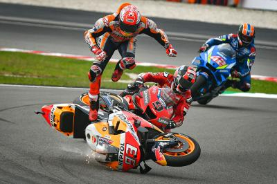 In pictures: Marquez' Sepang Q2 highside