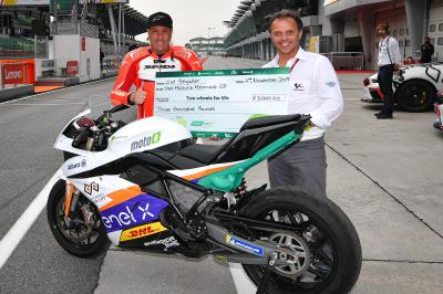 A MotoE™ experience in Malaysia with Two Wheels for Life