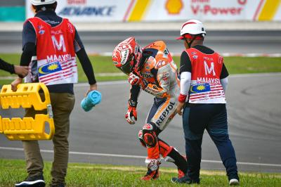 Alpinestars release data of Marquez' Sepang crash