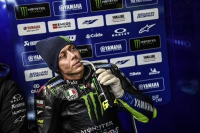 Rossi, un debut muy accidentado