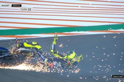 Deuxième chute de la journée pour Rossi