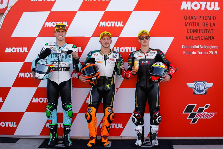 Andrea Migno, Marcos Ramirez, Jaume Masia, Gran Premio Motul de la Comunitat Valenciana
