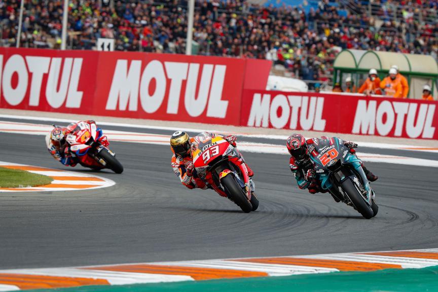 Marc Marquez, Fabio Quartararo, Gran Premio Motul de la Comunitat Valenciana © Valenti Enrich