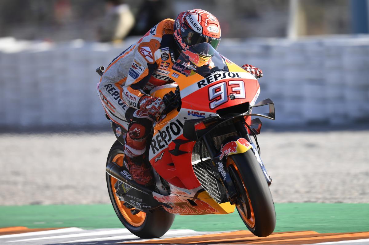 Valence : Márquez, principal protagoniste du warm-up - MotoGP